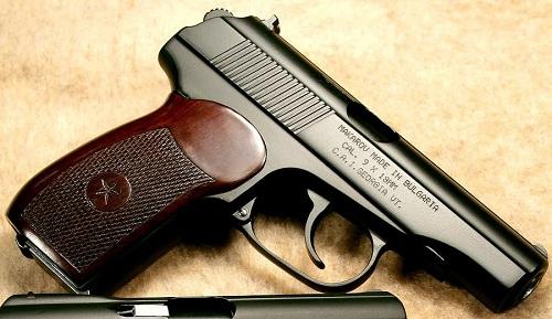 ПМ-образный пистолет, оксидированный щелочным способом